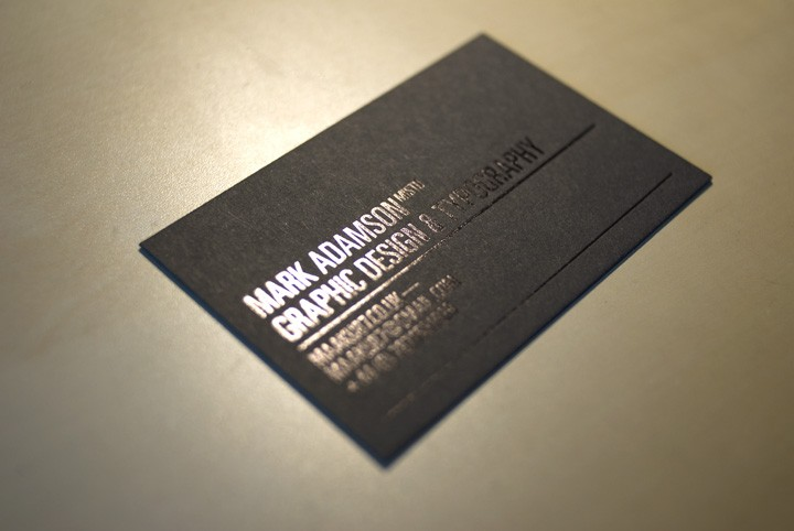 new screen printed business cards you should like type too - Screen Printing Business Cards