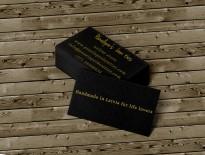 Abpusēji apdrukātas vizītkartes sietspiedē
