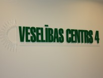 Plexi glass cutted logo with distance from wall