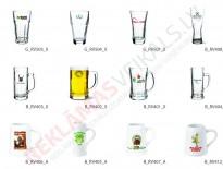 Glāzes un kausi ar apdruku